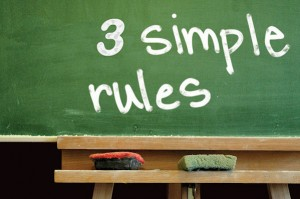3 simple rules