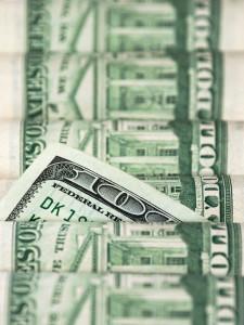 Rolls of 100 bills