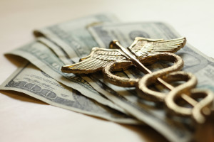 dollars and caduceus